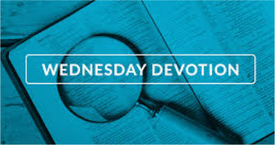 WEDNESDAY 5 Minute Devotion